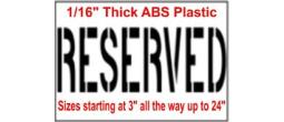 Parking Reserved Stencils