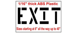 Street and Parking lot Exit Stencils