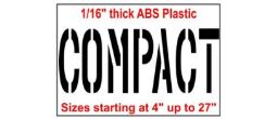 Compact Parking Lot Stencils