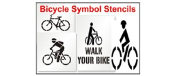 Bicycle Symbol Stencils