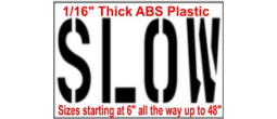 Street Slow Sign Stencils