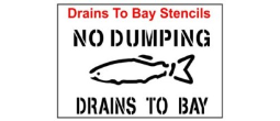 Drains to Bay Stencil Sets, Qty. 1, 10 and 50 Pack