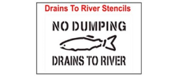 Drains to River Stencil Sets, Qty. 1, 10 and 50 Pack