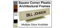 Our Plastic Frames, Square Corner
