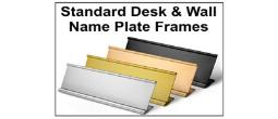 Standard Aluminum Nameplate Frames