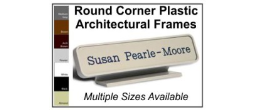 Our Plastic Sign Frames, With Rounded Corner