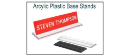 Plastic Acrylic Nameplate Base Stand
