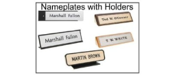 Our Complete Nameplates with Holders