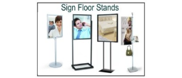 Display Sign Floor Stands & Assesories