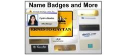 Custom Name Badges & More
