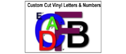Custom Vinyl Adhesive Lettering, Custom Cut to Your Specifications