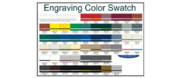 Engaving Plastic Color Swatch Chart