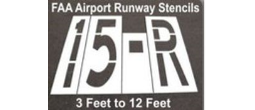 Large FAA Airport Taxi Runway Stencils