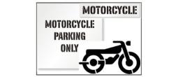 Street Motorcycle Parking Lot Stencils