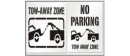 Street Tow Away Zone Stencils