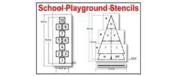 School Playground Stencils