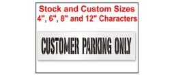 Street Customer Parking Only Stencils