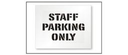 Street Staff Parking Stencils