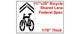 Bicycle Shared Roadway Stencil