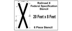 RAILROAD X Federal Spec Stencil