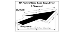 Federal specification lane drop arrow