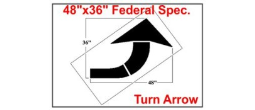 Curve Arrow Stencil