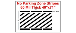 "40"" No Parking Zone Stripes"