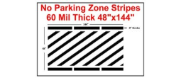 "48"" No Parking Zone Stripes"