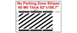 "62"" No Parking Zone Stripes"