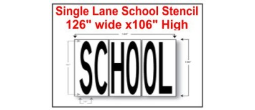 "SINGLE LANE SCHOOL STENCIL,  126"" wide x 106"""