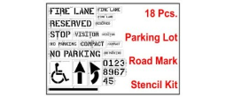 Parking Lot and Road Marking Stencil Kit