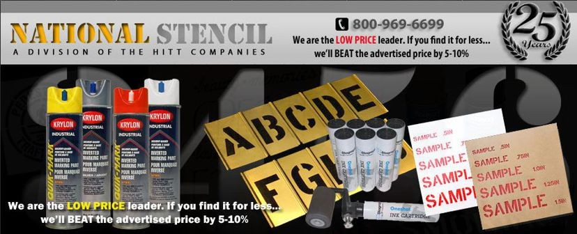 Custom Cut Stencils and Supplies