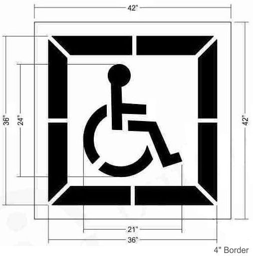 2 Part California ADA Handicap Stencil
