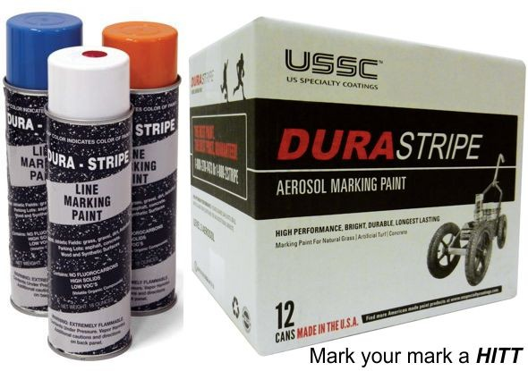 DuraStripe White Aerosol Athletic Striping Paint