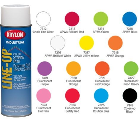 Krylon 18 oz Aerosol Line-Up Marking Spray Paint