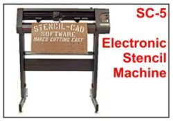 electronic stencil cutting machine