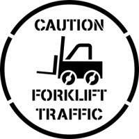"12"" Forklift Traffic Stencil"